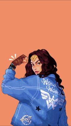 Korean Best Friends, Indian Illustration, Wonder Woman Art, Logo Background, Dc Memes, Feminist Art, Boxing Day, Instagram Story Ideas, Gal Gadot