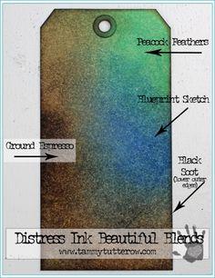 Distress Ink Beautiful Blends 2 | www.tammytutterow.com