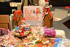 Return of the Elf on the Shelf.  Hermie and Kramer brought gingerbread houses and candy to decorate to and leave out for Santa on Christmas Eve.  So cute to decorate your home (smells good too) for the month of December.