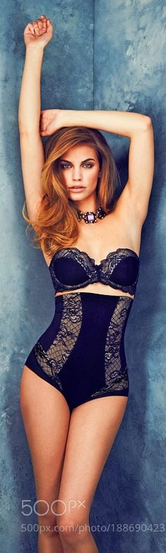 High-waisted lingerie first became popular in the 1940's. Although lingerie is still widely popular today newer pieces are starting to resemble one from the 1940's. It has become so popular that swimsuits are now portrayed off these designs. Shemaia F. 2/21/17