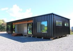 Building A Container Home, Container Buildings, Container Architecture, Shipping Container House Plans, Home Design Floor Plans, Prefabricated Houses, Street House, Container House Design, Backyard Retreat