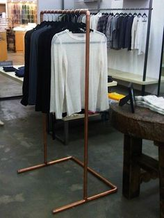 copper hanger, to display clothing