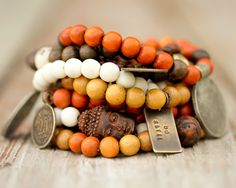 Mala Bracelets / Malas / Prayer Beads / Buddhist Jewelry / Compassion / Kindness / Earthy Jewelry / Boho Chic / Stacking Bracelets by amywaltz on Etsy https://www.etsy.com/listing/183280894/mala-bracelets-malas-prayer-beads
