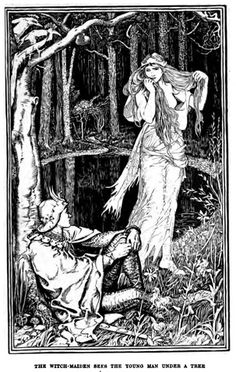 The Dragon of the North (Der Norlands Drache, from Esthnische Mahrchen. Kreutzwald.)    H.J. Ford    Andrew Lang, The Yellow Fairy Book