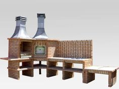 Love this idea for the backyard.  I want a brick grill with a smoker.
