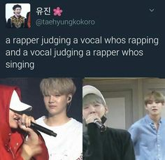 The judging between Taehyung and Yoongi