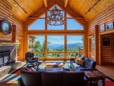 At Last Lodge | Beautiful 3BR Pet Friendly Log Home w/ Hot Tub and Amenities! Old Fort, Mountain Living, Rental Property, Log Homes, Game Room, Tub, Patio, House Styles, Outdoor Decor