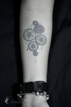 gears tattoo - Google Search