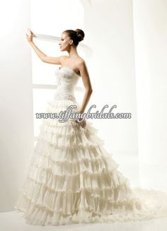La Sposa Wedding Dresses - Style Laica La Sposa Wedding Dresses, Wedding Dress Styles, One Shoulder Wedding Dress, Fashion Dresses, Fashion Show Dresses, La Sposa Wedding Gowns, Trendy Dresses, Stylish Dresses, Dressy Dresses