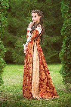 Traje del Renacimiento Italiano Julieta vestido vestido