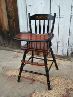 Refinish Wooden High Chair John Mark Antiques Conservator