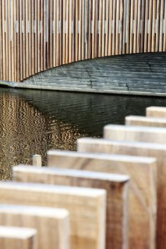 Detail shot of a bat-friendly bridge in the Netherlands by NEXT Architects.