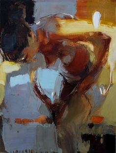 "Saatchi Art Artist Iryna Yermolova; Painting, ""Girl putting tights on sketch 2 (SOLD)"" #art"