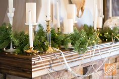 Christmas Decorating Ideas for a Rustic Glam Mantel by Amanda Hill of {re}cycled consign and design
