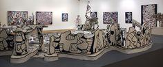 Jean Dubuffet - 22 juin au 2 nov 2014 - Aux Capucins - Landerneau // L'Hourloupe.