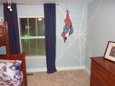 My Youngest Lives Spider Man Great Idea For When He Gets His Own Room Boys Spiderman Provided By Zeinner Homes Llc Custom Interior Exterior