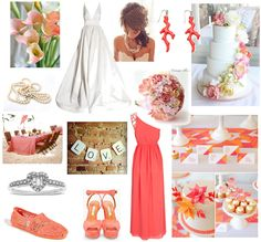 Coral Wedding Inspiration, love that bridesmaid dress and earrings Sister Wedding, Friend Wedding, Our Wedding, Dream Wedding, Wedding Wishes, Wedding Stuff, Wedding Beach, Coral Wedding Themes, Wedding Colors