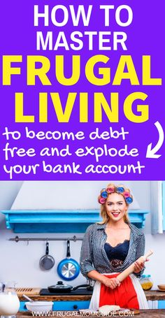 Looking for frugal living tips? Master frugal living with this list of brilliant, fail-proof frugal living ideas! Frugal living for beginners has never been so easy! Whether you're trying to pay off debt, save money or just spend less, these frugal living Ways To Save Money, Money Tips, Money Saving Tips, Money Budget, Managing Money, Frugal Living Tips, Frugal Tips, Frugal Family, Budgeting Finances