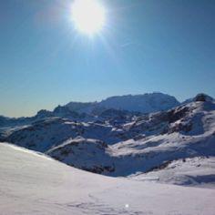 Arabba - Sella Ronda - Dolomites - Italy 45 km ski tour clockwise an counter clockwise (more difficult).