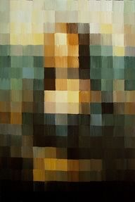 STEAM = Technology : This would make a great high school art lesson that asked students to use Photoshop to pixelate a famous artwork, and replicate it as a painting, paying attention to the tints and shades of each block that make up the whole!