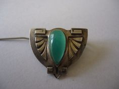 Art Nouveau, Seccessionist-Juganstil Theodore Fahrner Silver Gem Set Brooch