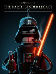 Darth Bender   Star Wars   Futurama   #starwars #starwarsart #starwarsfanart #bender #futurama #darthvader