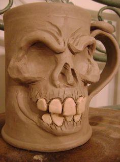 Skull mug -WIP by thebigduluth on DeviantArt