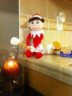 elf on a shelf idea for kiddos