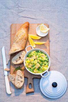 Recept voor kruidige zalmstoofpot met saffraan