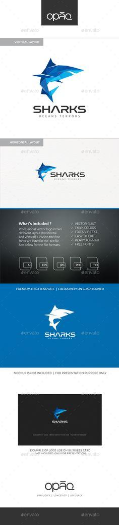 Shark Polygons Logo - Animals Logo Templates