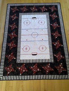 Hockey rink quilt