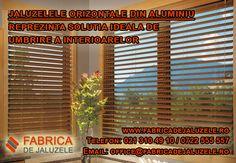 Jaluzelele orizontale din aluminiu reprezinta solutia ideala de umbrire a interioarelor. Acestea au un design perfect pentru ferestre din PVC. Sunt realizate din lame de aluminiu, asigurând protecţia contra căldurii excesive timp îndelungat. Instalând aceste jaluzele deosebite, vei preveni pătrunderea razelor de soare nedorite. Comanda acum jaluzele orizontale din aluminiu sau afla mai multe detalii despre acestea pe…