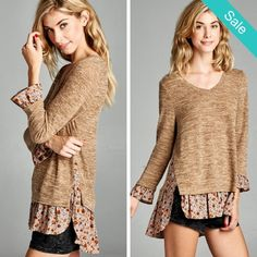 Boho Layered Hem Shirt - ...Sugar and spice this one is everything nice! With this on you won't have to be!