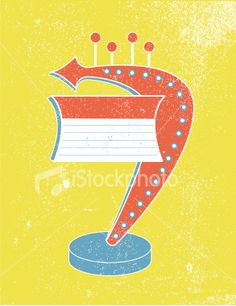 Primary Retro Blank Marquee. Royalty Free Stock Vector Art Illustration