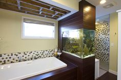 "Aquarium - DIY's ""Bath Crashers"" Bathroom Project - contemporary - bathroom - minneapolis - Mercury Mosaics and Tile"