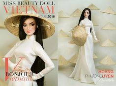 Miss Beauty Doll Vietnam-Fashion Cover. <3 <3 <3 Love my Audrey so much in raven hair! Her name in the competition is Uyen now! :-D haha