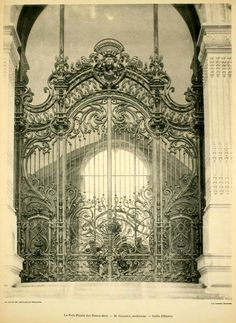 The entrance gate of the Petit Palais, Paris