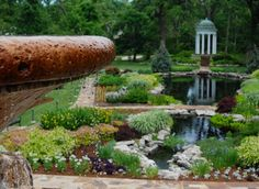 The lovely gardens of the Philbrook Museum of Art in Tulsa, Oklahoma cover approximately 20 acres and include water features, gazebos and statuary.