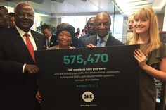 After several months of ONE members advocating for world leaders to take action on Ebola, our second largest petition ever was delivered to all 3 affected country Heads of State today!