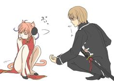 [Gintama][Kagura no harem] Doujinshi Collection - [Kagura no Harem] When Kagura becomes a cat - Wattpad Manga Anime, Anime Couples Manga, Cute Anime Couples, Anime Art, Okikagu Doujinshi, Shingeki No Bahamut, Anime Ships, Akatsuki, Anime Love