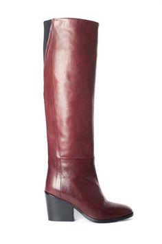bordeaux over knee boots