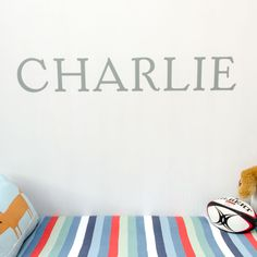 Looking as though they've been painted on to the wall, these big colourful names will brighten your child's room!  The price shown is for up to four letters, with additional letters available for an extra charge.  The letter colour shown in the image is Stone Grey, although this product is available in our full range of colours.  Dimensions: 18cm high x up to 20cm per letter