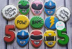 """Power Rangers❤️ #decoratedcookies #custom #boys #kids #birthday #party #cute #sweet #dessert #baking #thesweetestobsession"""