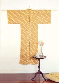 Peppermint magazine's free kimono pattern | Sewn up in a beautiful silk/cotton spot from The Fabric Store.