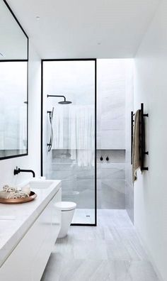 Modern Toilet and Bathroom Designs Home Interior Design Modern Minimalist Black and White Lofts modern bathroom design small modern bathroo.