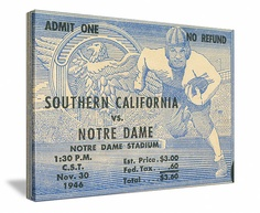Vintage 1946 Notre Dame football ticket art on canvas. https://www.facebook.com/47STRAIGHT