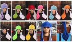 Inkling Girl Inspired Splatoon Squid Kid Hat Costume SALE Cosplay MANY Colors