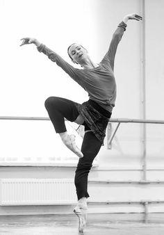 Olesya Novikova rehearsing Nacho Duato's The Sleeping Beauty. Photo by Nikolay Krusser...