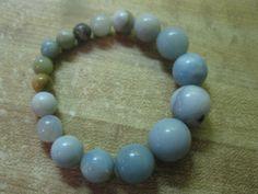 Amazonite graduated bracelet by las81101 on Etsy, $20.00