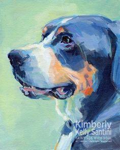 Bailey, painting by artist Kimberly Kelly Santini
